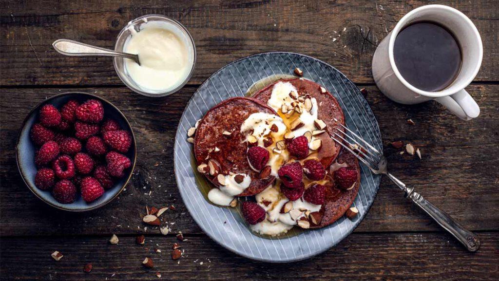Himbeer-Smoothie-Pancakes Rezept