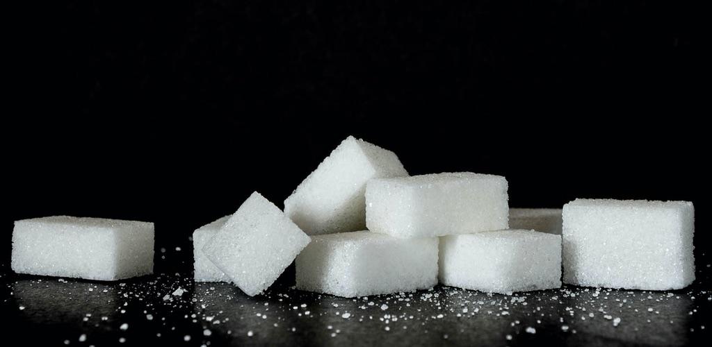 Bild mit Zucker in Würfelform